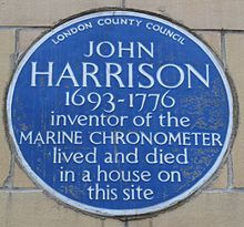 Harrison Blue Plaque, London