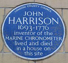 Harrison Blue Plaque, London