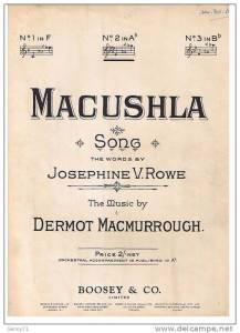 Macushla sheet music